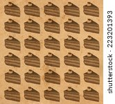cakes on paper | Shutterstock . vector #223201393