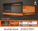 luxury and simple business card ... | Shutterstock .eps vector #223217047