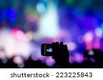 people taking photographs with... | Shutterstock . vector #223225843