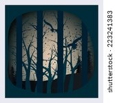 vector night in the deep deep... | Shutterstock .eps vector #223241383