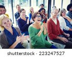 group of people in seminar | Shutterstock . vector #223247527