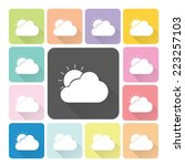 weather icon color set vector...