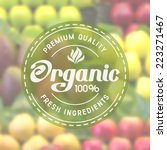 label for organic healthy food...