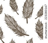 seamless pattern with feathers  ... | Shutterstock .eps vector #223283167