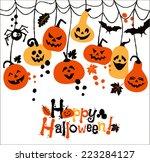 halloween background of... | Shutterstock .eps vector #223284127