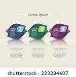 modern vector abstract flow... | Shutterstock .eps vector #223284607