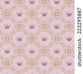 seamless pattern with brown... | Shutterstock .eps vector #223295887