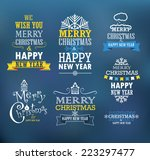 merry christmas and a happy new ... | Shutterstock .eps vector #223297477