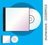cd case  vector  illustration | Shutterstock .eps vector #223309513
