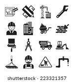 stock vector construction... | Shutterstock .eps vector #223321357