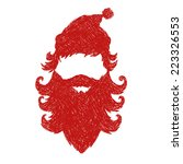 santa claus abstract isolated...