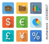 flat finance icons. vector...