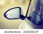 Side Rear View Mirror On A...