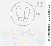 Imprint Soles Shoes Sign Icon....