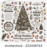 christmas decoration collection ... | Shutterstock .eps vector #223338763