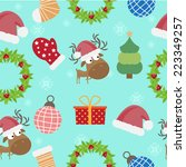 christmas seamless pattern... | Shutterstock .eps vector #223349257