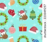 christmas seamless pattern... | Shutterstock .eps vector #223349257