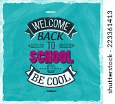 back to school design | Shutterstock .eps vector #223361413