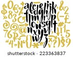 Vector alphabet. Hand drawn letters. Letters of the alphabet written with a brush.   Shutterstock vector #223363837