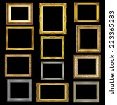 set antique picture frame on... | Shutterstock . vector #223365283