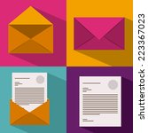 email design over colorful... | Shutterstock .eps vector #223367023