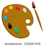 an illustration of a artist... | Shutterstock .eps vector #223367143