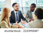 serious businessman of asian...   Shutterstock . vector #223390087