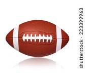 american football ball isolated ... | Shutterstock . vector #223399963