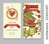 template for hand drawn xmas... | Shutterstock .eps vector #223421407