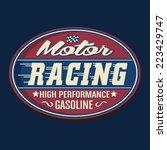 vintage sport racing  t  shirt... | Shutterstock .eps vector #223429747