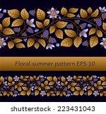 summer seamless border template ... | Shutterstock .eps vector #223431043