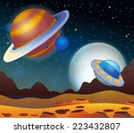 image with space theme 2  ... | Shutterstock .eps vector #223432807