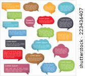 colored speech bubbles with...