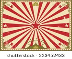 circus vintage horizontal... | Shutterstock .eps vector #223452433