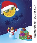 christmas greeting card. | Shutterstock . vector #22345567