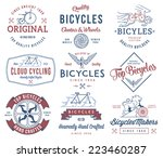 vector bicycle badges and...