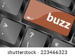 buzz word on computer keyboard... | Shutterstock . vector #223466323