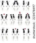 set  this is love .... | Shutterstock .eps vector #223478497