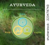 ayurveda vector illustration.... | Shutterstock .eps vector #223478743