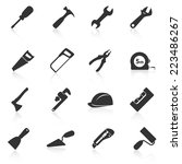 Set Of Construction Tools Icon...