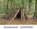 A Forest Shelter Made From All...
