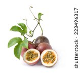 passion fruit isolated on white ... | Shutterstock . vector #223496317