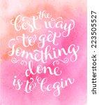 vector calligraphic inscription ...   Shutterstock .eps vector #223505527