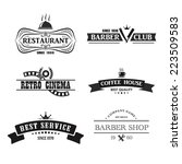 retro vintage insignias or logo ... | Shutterstock .eps vector #223509583