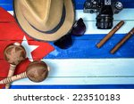 cuba related vintage items on... | Shutterstock . vector #223510183