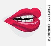 vector lips | Shutterstock .eps vector #223515673