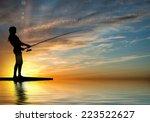 silhouette of teenager girl... | Shutterstock . vector #223522627