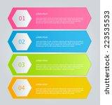 infographics template for... | Shutterstock .eps vector #223535533