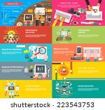 creative team. team working at... | Shutterstock .eps vector #223543753