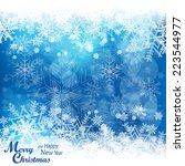 christmas snowflake pattern in... | Shutterstock .eps vector #223544977